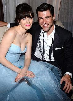 Zooey Deschanel and Max Greenfield