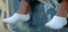 Talk about Going Green....  From Spain, a foldable shoe that's fully biodegradable