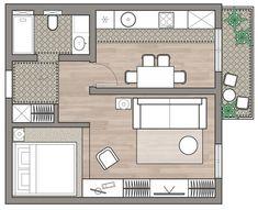 20 New Ideas For Apartment Architecture Studio Apartment Furniture Layout, Diy Apartment Decor, Apartment Interior Design, Apartment Ideas, Studio Apartment, Living Room Floor Plans, Living Room Flooring, Floor Plan Layout, Cool Apartments