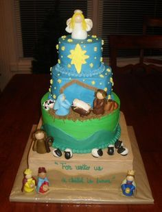 Crossland nativity cake by atasteofwhimsy, via Flickr   now that is a Christmas Cake