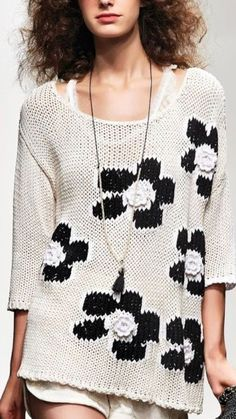 48 Knitted Women Sweaters You Should Own - Global Outfit Experts Chic Outfits, Pretty Outfits, Fashion Outfits, Knitwear Fashion, Knit Fashion, Woolen Tops, Crochet Clothes, Street Style Women, Latest Fashion Trends