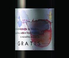 dark red wine label for Serbian winary PLANTAZE BOJOVIC, design by Bogoje Bojovic.