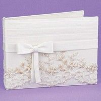Ivory colored wedding guest books a assorted themes and styles