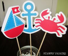 SO cute! Sailing Boy Collection Set of 3 Centerpiece by stampinfanatic, $11.25