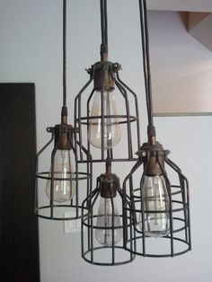 Vintage Pendant Lamp.... I'd love to have these in the backyard.