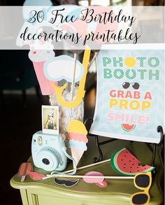 Freebies! 30 Birthday Party decoration printables ♥ | Love Peace and Shimmer