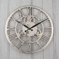 Pacific Lifestyle 75-018 Nickel Cog Design Round Clock