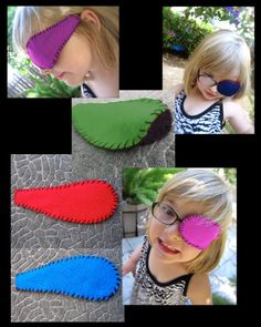 Felt Eye Patch Budget Set of 3 for Children  Three by artsymommas, $15.00