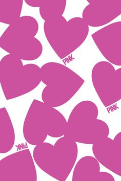 pink hearts iphone wallpaper