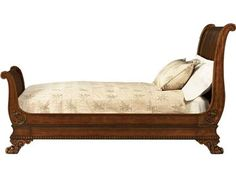 Shop+for+Baker+Sleigh+Bed+(King),+5226-06,+and+other+Bedroom+Beds+A+Superb+George+Bullock,+Regency,+carved+mahogany+Sleigh+Bed,+of+unusual+Napoleonic+style,+the+tall+scrolling+headboard+with+a+finely+grained+panel+flanked+with+curved+and+scrolling+uprights+carved+with+acanthus+leaves,+the+similarly+formed+footboard+carved+below+with+a+scrolling+floral+design,+the+panelled+and+moulded+sides+carved+with+mouldings+and+raised+on+bold+lions+paw+feet+carved+with+scrolls.