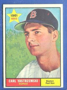 topps baseball cards | topps 287 carl yastrzemski # a 2nd year card red sox baseball card ...
