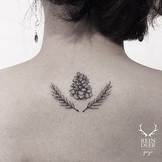 This detailed yet minimalist pinecone. | 19 Magical Woodland Themed Tattoos You'll Love