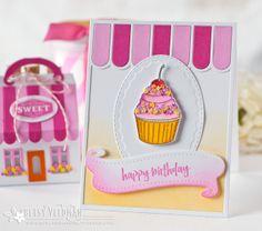 Happy Birthday Cupcake Card by Betsy Veldman for Papertrey Ink (July 2016)