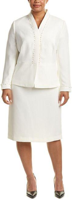 Tahari by Arthur S. Levine Tahari Asl Plus Skirt Suit
