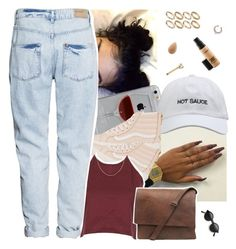 """Aug 4 "" by frezhstyle ❤ liked on Polyvore featuring Reyes, Vans, H&M, ASOS, beautyblender, MAC Cosmetics and Anne Sisteron"