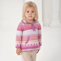 Knitted Cotton Sweater - Girls | Dave Bella Kids Clothes www.davebella.co.uk