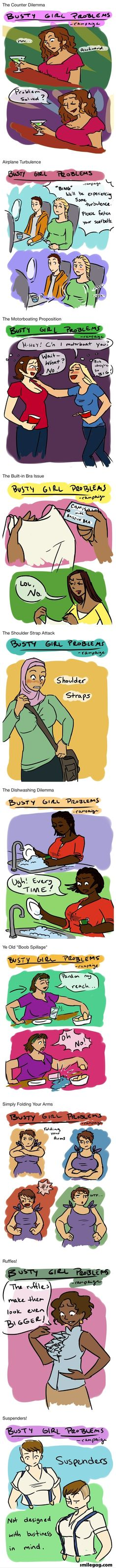 Busty Girls problem... I feel pity for them:/  visit the site for more funny pictures.