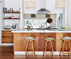 These tantalising timber kitchens are sure to whet your interior appetite.