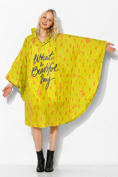 What a beautiful day poncho | Urban Outfitters