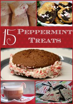 15 Peppermint Treats - perfect for holiday baking #peppermint #christmas #recipes #desserts