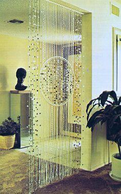 Room Divider Panel Macrame Pattern Vintage Boho Design Design