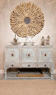 This gorgeous buffet was finished in Chalk Paint® decorative paint by Annie Sloan | by stockist WonderFaux Studio of Stafford, TX