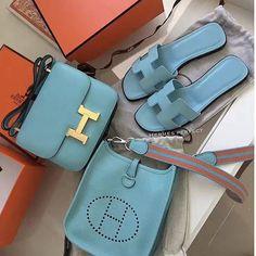 Nadire Atas on Hermes Forever Summer Baby Blue color~! Hermes Bags, Hermes Handbags, Cheap Handbags, Black Handbags, Purses And Handbags, Hermes Shoes, Luxury Bags, Luxury Handbags, Hermes Constance Bag