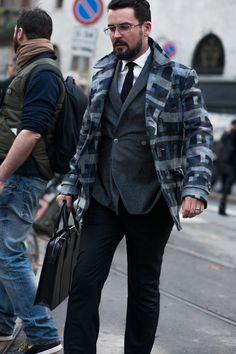 Street style at Milan Fashion Week 2015 - #mens #fashion