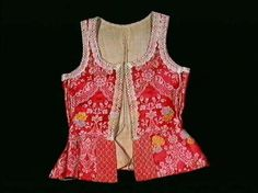 Livstykke - Bodice from Hedmark. Thought to be worn by Dorthe Vålstua. Accessioned in 1917.