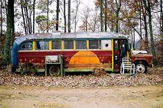 long hippie bus