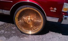 Triple Gold Dayton Wire Wheels of shopping for 26 inch rims for sale Dayton Rims, 26 Inch Rims, Rims For Sale, Donk Cars, Cadillac, Gold, Yellow