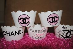 Coco Chanel Cupcake Wrappers