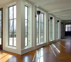 Floor to ceiling windows, skylights and retractable walls fill this modern home with natural light. house window living room 8 Interesting Floor to Ceiling Windows Ideas for Modern Houses Big Windows, Floor To Ceiling Windows, Windows And Doors, Wall Of Windows, Home Windows, Exterior Windows, Modern Windows, Sunroom Windows, French Windows