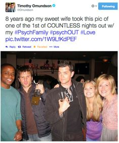 *curls up in a ball and cries*They are so amazing, their show could have lasted forever and I would have watched every single episode! Best Tv Shows, Best Shows Ever, Favorite Tv Shows, Movies And Tv Shows, Psych Cast, Psych Tv, Psych Quotes, Psych Memes, Real Detective