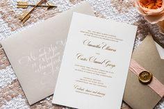 Foiled Invitations // Lovely Foiled Wedding Invitation // Foil, gold, elegant, classic, timeless invitation