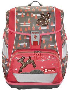 Step by Step Schulthek-Set, 2in1, Modern Deer, 4-teilig - 9334190473246 Modern, Deer, Backpacks, Bags, 3d, Products, Design, Side Bags, Zipper Bags