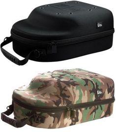 New Era Authentic 6 Cap Hat Carrier Storage Case Black Camo Strap Protector #NewEra #BaseballCapHatCarrierCaseTravel