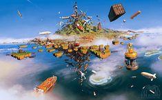 Un artiste mêle notre monde à son imaginaire débordant en créant d'extraordinaires oeuvres surréalistes