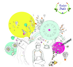 Creative bubble is an illustration for my website, www.kealasstudio.com (check it out) ...The art bird got its place in the top left corner as well.. which it was very pleased about.