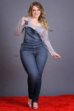 macacao jeans plus size de gordinha