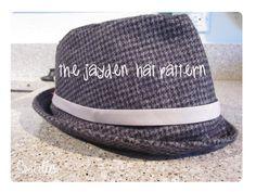 Couture patron Jayden  Kids Fedora  chapeau par soubelles sur Etsy, $6.00