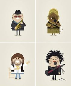 Can you name these famous music icons?