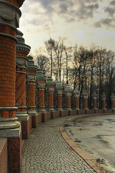 Mikhailovski Castle Garden Columns, St Petersburg, Russia