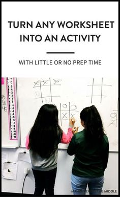 4 ideas to turn any worksheet into an activity to keep students engaged and having fun | maneuveringthemiddle.com