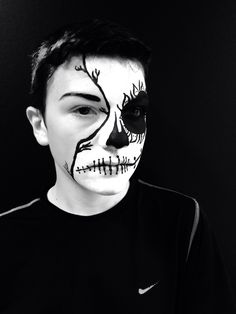 Theatrical Makeup  23/09/13 My Sugar Skull Design  Model @Brandon Barns  MUA Jess Robin