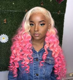 4cb91d40df1 ombre blonde pink lace wig Blonde With Pink