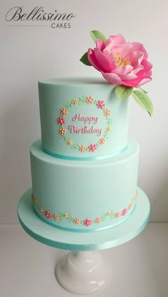 Happy Birthday to my Mum Linda who celebrates a... - Bellissimo Cakes