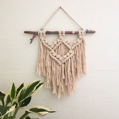 Etsy の Macrame Wall Hanging by LetsMakeCoolStuff Macrame Design, Macrame Art, Macrame Projects, Macrame Knots, Macrame Wall Hanger, Large Macrame Wall Hanging, Deco Boheme, Macrame Patterns, Etsy