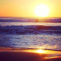 Surfing at sunrise with at Coolangatta Beach in #Queensland #Australia