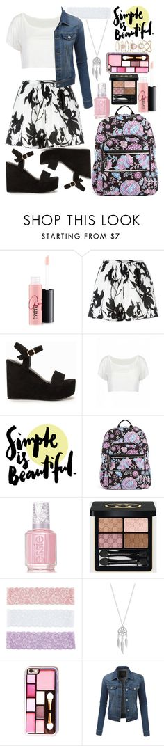 """2,000+ followers!"" by unicorn-mc-rainbow ❤ liked on Polyvore featuring MAC Cosmetics, Thakoon, Nly Shoes, Vera Bradley, Essie, Gucci, Decree, Lucky Brand, LE3NO and Accessorize"